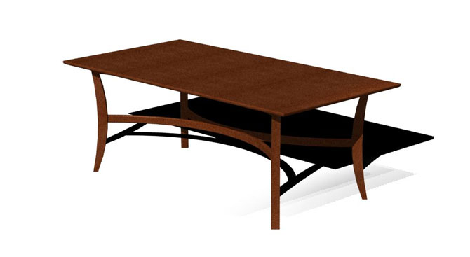 Alegre Boomerang Table – Wood Top
