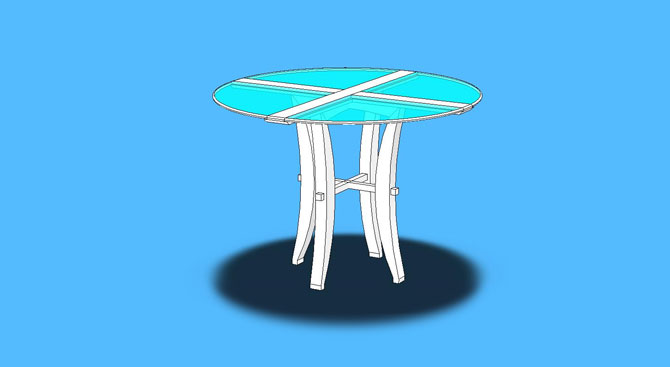 Alegre Cafe Table – Glass Top