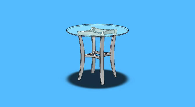 Alegre Diamond Round Table