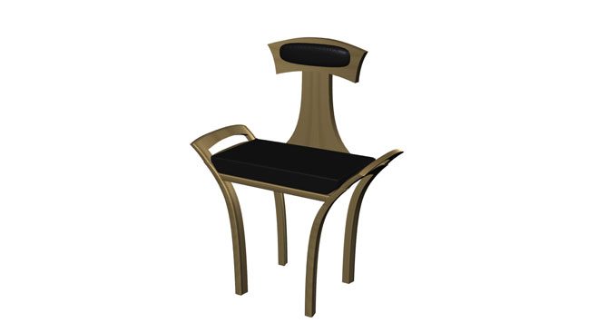 Luna Chair with Handle and Cushion