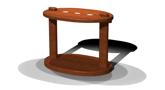 Ovalino Side Table – 2 legs